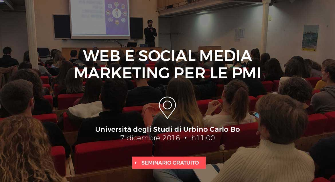 Web e Social Media Marketing per le PMI - Convegno di Webness all'Università di Urbino
