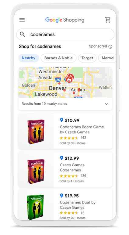 google shopping local